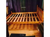 Double Bed frame in solid pine wood