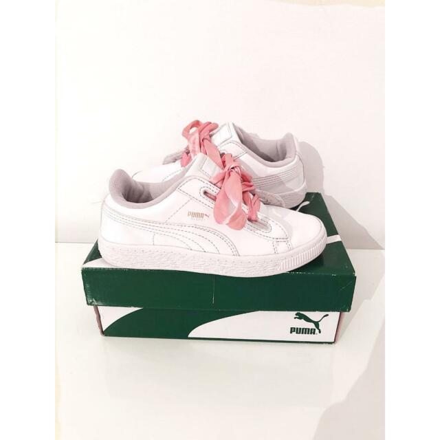 official photos e1f41 9ded0 GIRLS WHITE PATENT BOW PUMA TRAINERS SIZE 11 | in Muswell Hill, London |  Gumtree