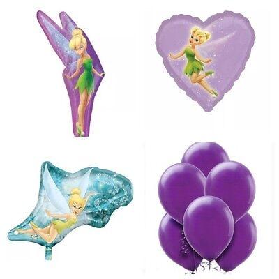 XXL Folienballon Luftballon Disney Tinker Bell Deko Helium Kindergeburtstag lila