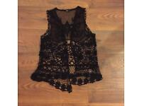 Size 12 mesh and lace waistcoat worn once