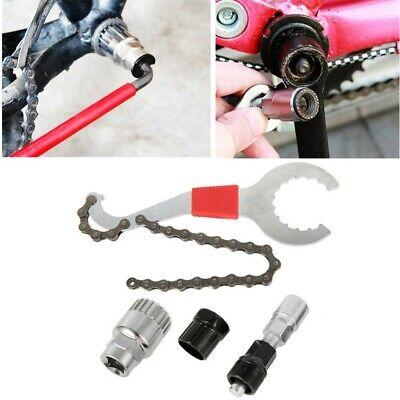 Bike Bicycle Chain Freewheel Bracket Crank Pulle Removal Repair Tool Set Cycling