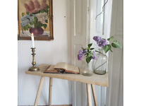 Rustic acacia wooden fisherman's bench or parlour table. Kitchen, hall console