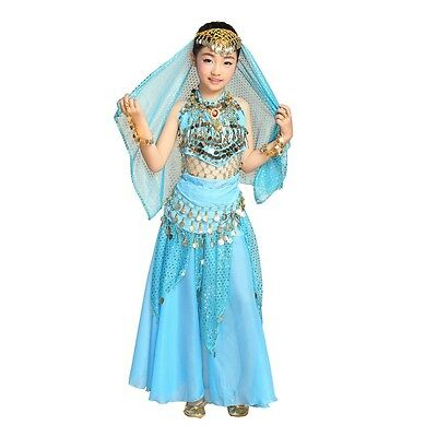 New Belly Dance Costumes for Kids Girls Children Belly Dance Skirt Bollywood](Belly Dance Costumes For Girl)