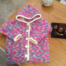 Hand knitted hooded Jacket