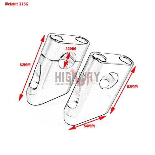 universal 7  8 u0026quot  22mm motor raised handlebar handle bar mount clamps riser taper