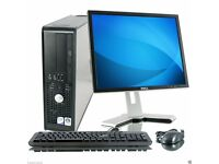 FULL DELL CORE 2 DUO DESKTOP TOWER PC WITH WINDOWS 7 & WIFI & 4GB