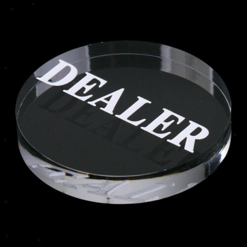 Acrylic Transparent Professional Dealer Poker Buttons Ships from TEXAS
