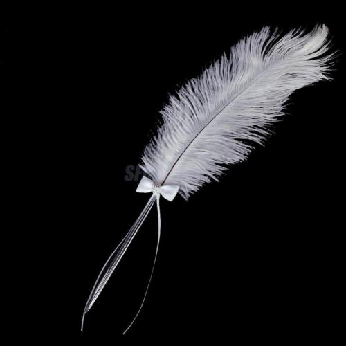 Wedding Bridal Party White Ostrich Quill Feather ...