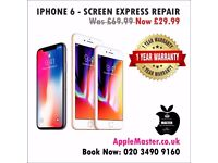 Apple iPhone Screen Repairs Express In 30 Minutes All models 7, 6, 6s, 5, 5s, 4s Plus + Quick iFIX