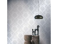 4 pcs Non-woven Wallpaper Rolls White 0.53x10 m Ornament-146193