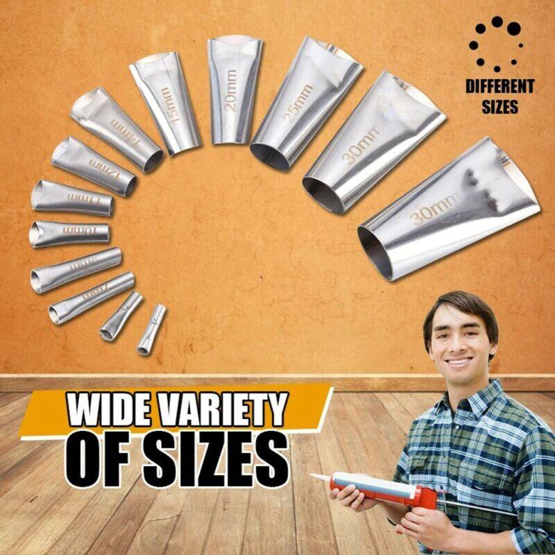 US! 14pcs Silicone Caulking Finisher Tool and Scraper Set Nozzle Spatulas Filler Hand Tools