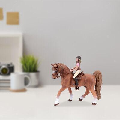 Plastiktierfigur Spielzeug zum Sammeln Pferd mit abnehmbarer Reiterfigur