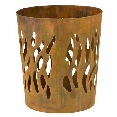 Esschert Design Fire Basket Rust Round FF216 Outdoor Fireplace Garden Heater