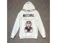 Moschino White Teddy Hoodie