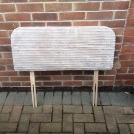 Beige Jumbo Cord Headboard