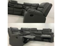BRAND NEW RECLYNER CORNER SOFAS OR 3+2 SOFA SET AS WELL--NEXT DAY DELIVERY
