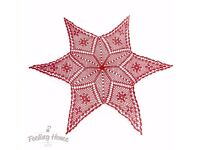 NEW Handmade Crochet Star Tablecloth Christmas Decoration Table Home Decor