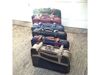 JOB LOT x7 SOFT LARGE LIGHTWEIGHT SUITCASES - COLLECT FROM RADLETT HERTS