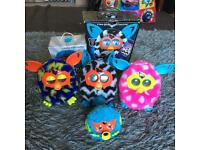Furby Boom x 3 and one Furby Party Rocker