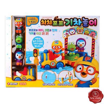 PORORO Train Play Toy Set Preschool Kids Boys Girls Gift Role play