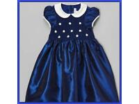 Special occasions dark blue dress bsize 3 yrs