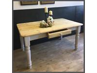 RUSTIC SOLID 5FT PINE FARMHOUSE TABLE RESTORED AS NEW