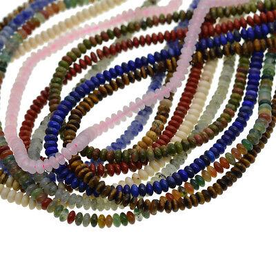 Wholesale Natural Gemstone Saucer Spacer Loose Beads 2x4mm DIY Jewelry (Saucer Natural)