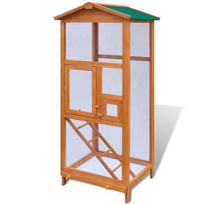 "vidaXL 65"" Large Pet Bird Cage House Budgie Aviary Wood Wire Mesh Weatherpoof"