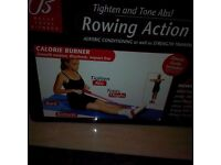 Rowing action exerciser