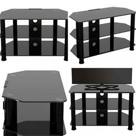 King Universal Black Glass TV Stand - £30