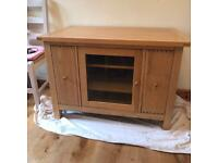 Willis and Gambier Solid Oak TV cabinet
