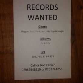 RECORDS WANTED!