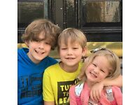 After School Nanny for 3 Incredible Kids - Start Nov 1, in West Kensington