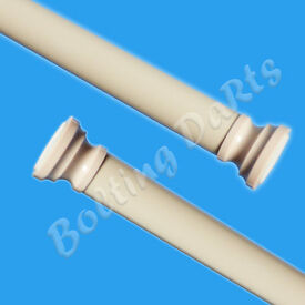 Details about Beige Curtain Pole Shower Rail 70-110cm Telescopic Rod Net Rail Spring Loaded