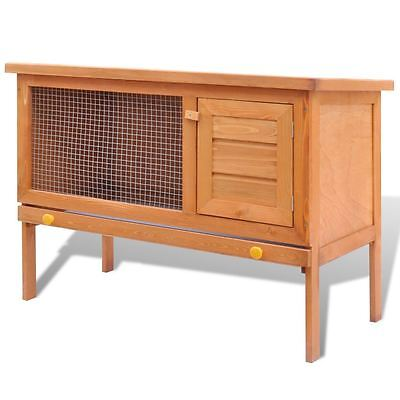"vidaXL 36"" Wooden Rabbit Hutch Bunny Pet Cage Small Animal House Chicken Coop"