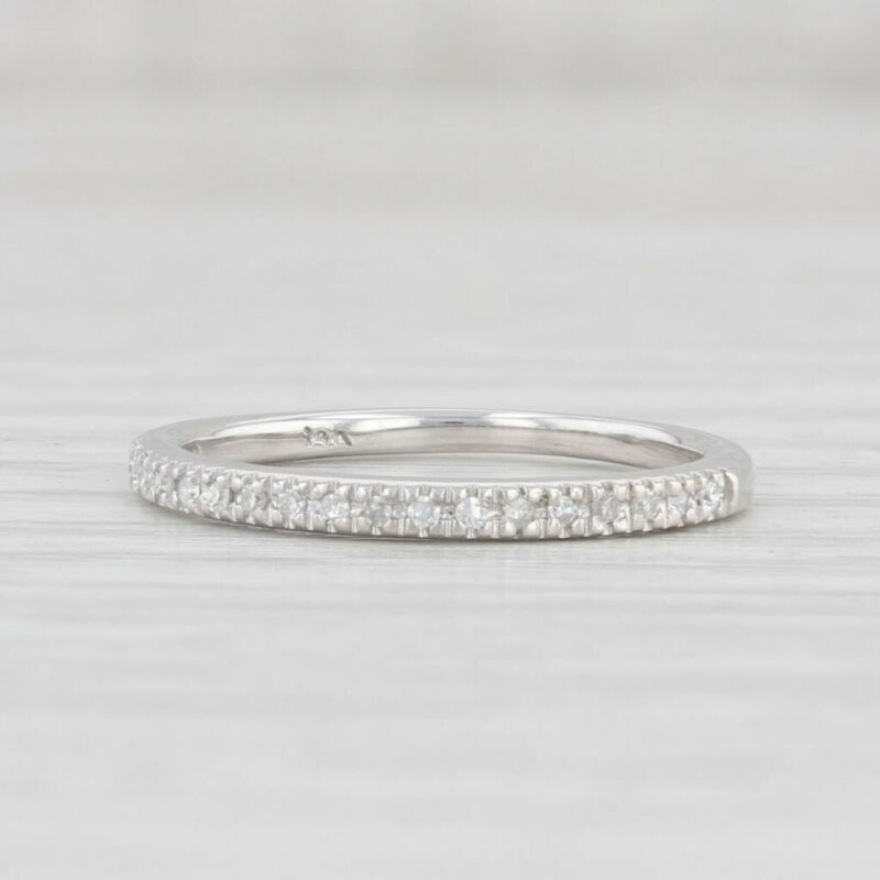 Diamond Wedding Band 14k White Gold Size 4.5 Stackable Ring