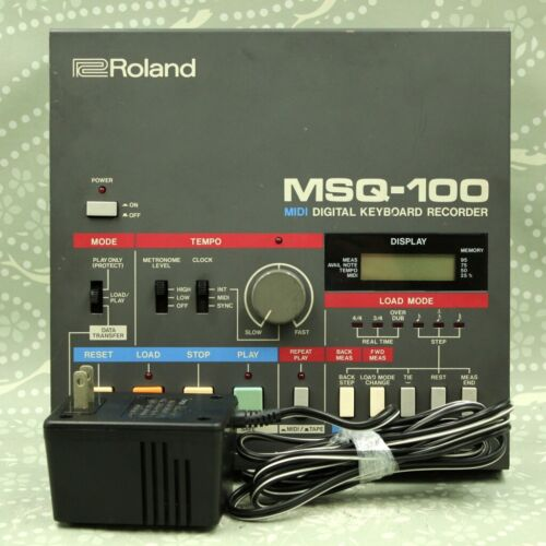 Roland MSQ-100 Midi Digital Keyboard Recorder With Adapter Made in Japan 515532