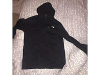 The North Face men's black zip hoodie