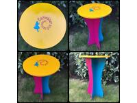 Alice In Wonderland Side Table ~ Quirky Hand-painted Custom Furniture