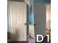 6 internal doors with brassware and latch locks