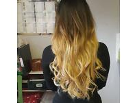 MOBILE HAIR EXTENSIONS, ALL COLOUR IN STOCK INC OMBRE AND HIGHLIGHTS, NO DEPOSIT,