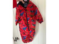 Red dinosaur Puddle suit 1-1.5 years