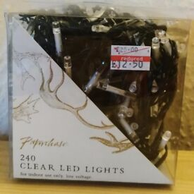 Paperchase white 240 low voltage LED Christmas lights - indoor use only - Xmas/Fairy Lights