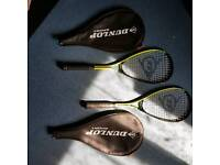 For sale, pair of dunlope squash rackets like new condition £30