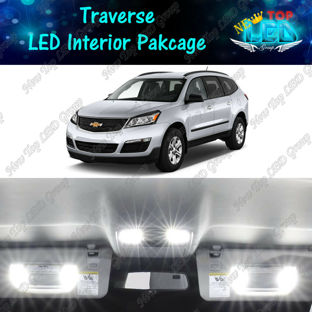 15 Pcs LED Package Vanity Reverse for Chevy Silverado License Interior