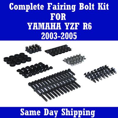 2005 Yamaha R6 Bolt - Motorcycle Fairing Bolt Kits Black Screws Fasteners for Yamaha 2003-2005 YZF R6