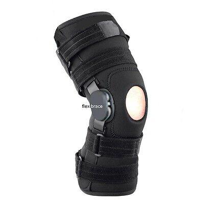 New Flexibrace Wrap Around Hinged Knee Brace Support Adjusta