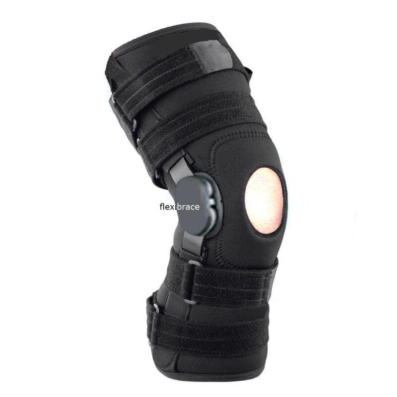 New Flexibrace Wrap Around Hinged Knee Brace Support Adjustable