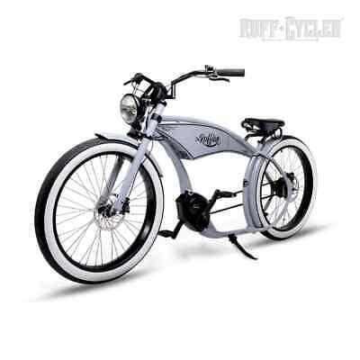 "Ruff Cycles THE RUFFIAN 26"" Pedelec E-Bike Cruiser 2020 CX 300Wh silbergrau"