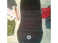 Bugaboo universal footmuff in black (velcro )